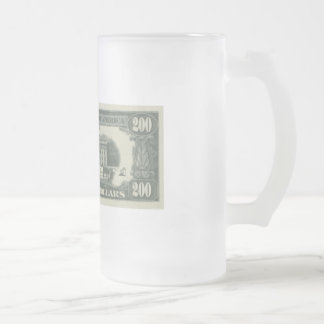 us dollar frosted glass mug