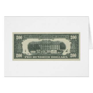 us dollar greeting card