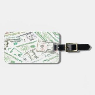 US dollars background Luggage Tag