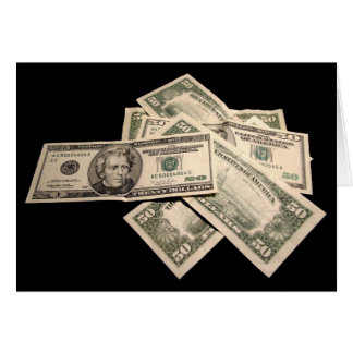 US Dollars Greeting Card