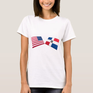 US & Dominican Republic Flags T-Shirt