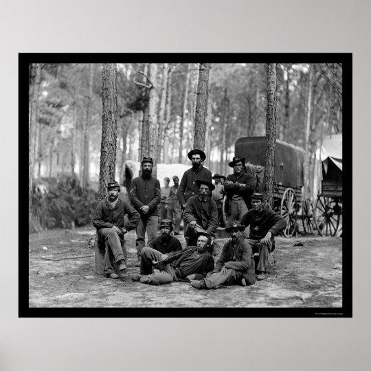 US Engineer Battalion 1864 Poster