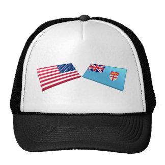 US & Fiji Flags Cap