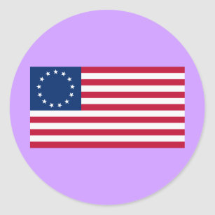 Us flag 13 stars gifts gift ideas zazzle uk us flag 13 stars betsy ross classic round sticker publicscrutiny Choice Image