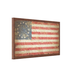 US Flag 1776 Stretched Canvas Print