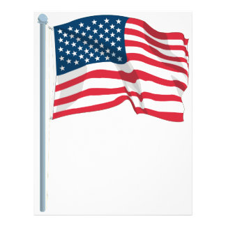 US Flag 21.5 Cm X 28 Cm Flyer
