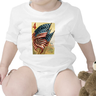US Flag 4th of July Bodysuits