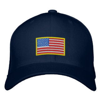 US Flag - America Embroidered Hat