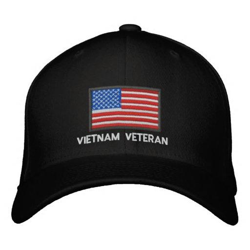US Flag - America - Vietnam Veteran Baseball Cap