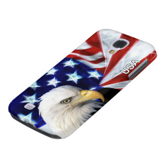 US Flag and Bald Eagle Patriot Galaxy S4 Case
