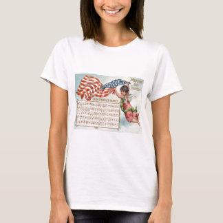 US Flag Angel Cherub Star-Spangled Banner T-Shirt