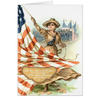 US Flag Army Child Uniform Greeting Card