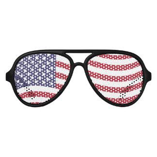 US Flag Aviator Sunglasses