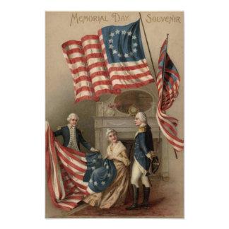 US Flag Betsy Ross George Washington Photo Art