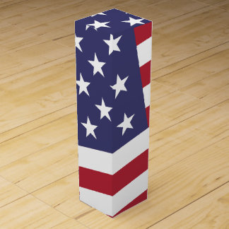 US Flag - Celebrate America - Independence Day Wine Boxes