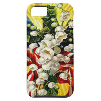 US Flag Christian Cross Dove Lily Of The Valley iPhone 5 Cases