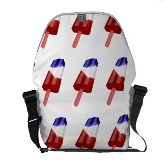 US Flag Colored Popsicle Water Color Courier Bags