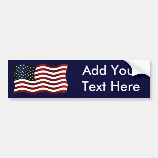 US Flag: Create Your Own Bumper Sticker