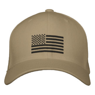 US Flag custom  name Hat Embroidered Hat
