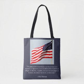 US Flag Decorated Tote bag