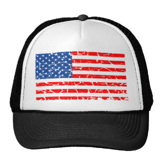US Flag, Distressed Cap