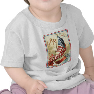 US Flag Drum Forget Me Nots Flowers Tshirts