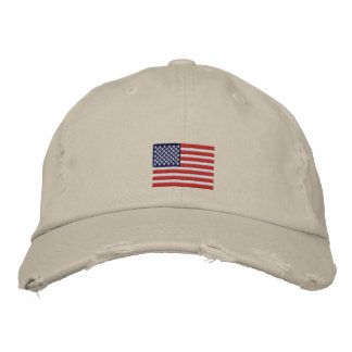 US Flag Embroidered Hats