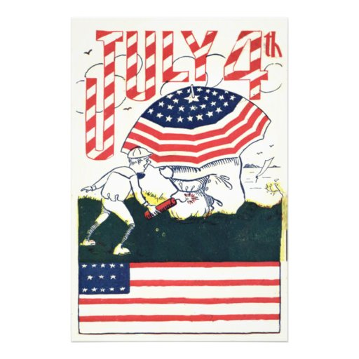 US Flag Fireworks Firecracker Prank Photo