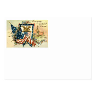 US Flag Flower Civil War Eagle Memorial Day Pack Of Chubby Business Cards