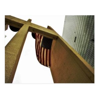 US Flag Flying Postcard