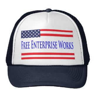 US Flag Free Enterprise Works Hat