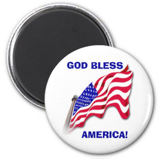 "US FLAG ""GOD BLESS AMERICA""  Magnet"