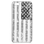 US flag in black and white Case For iPhone 5C