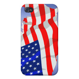 US Flag in shape of lower 48 iPhone 4 Case