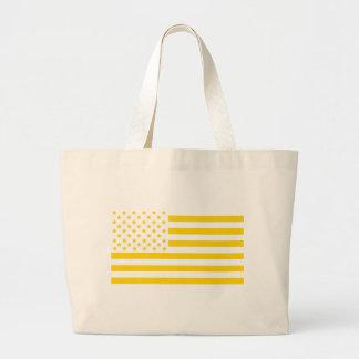 US flag in Ukrainian colors Large Tote Bag