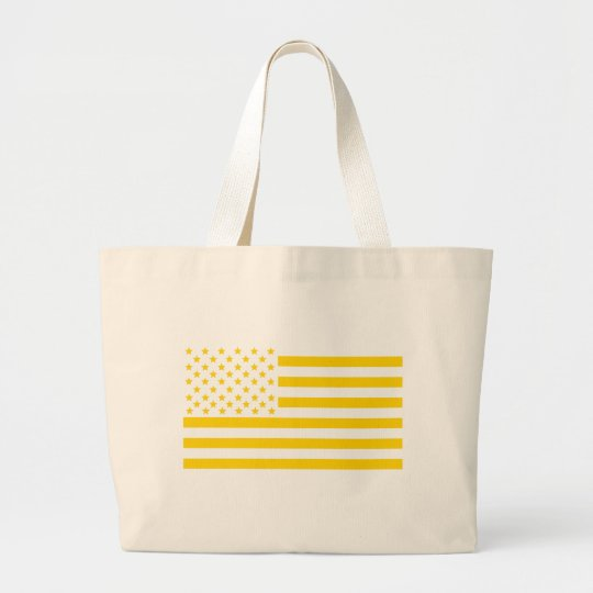 US flag in Ukrainian colours Large Tote Bag