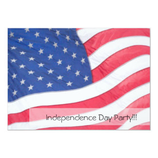 US Flag Independence Day Invitation