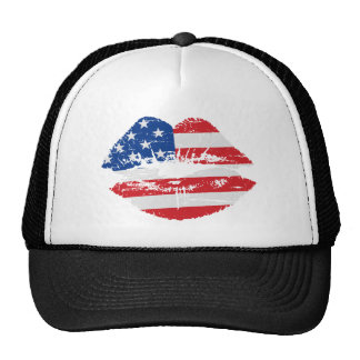 US Flag Lips Hat