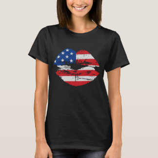 US Flag Lips T-shirt