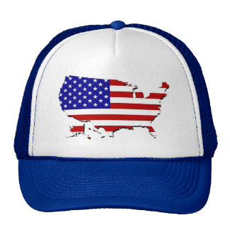US Flag Map Cap