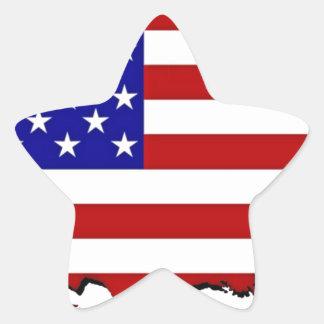 US Flag Map Star Sticker