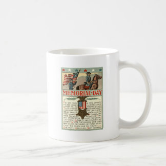 US Flag Medal March Union Soldier Cavalry Basic White Mug