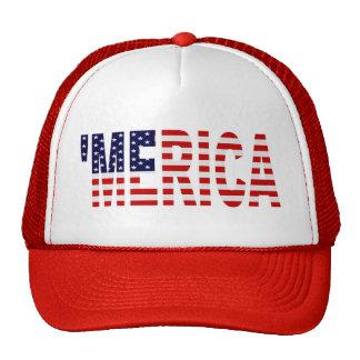 US Flag 'MERICA Trucker Hat