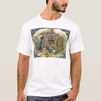 US Flag Molly Pitcher Cannon T-Shirt
