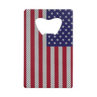 US Flag on Carbon Fiber Style Decor