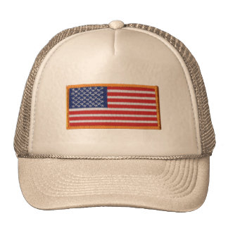 US Flag Patch Image Mesh Trucker Hat