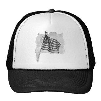 US Flag Patriotic Vintage Art Mesh Hat