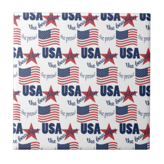 US Flag Pattern Tile