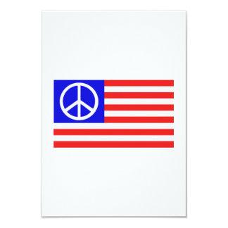 """US flag peace 3.5"""" X 5"""" Invitation Card"""