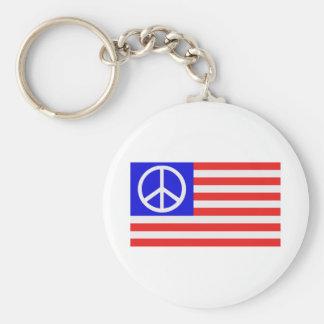 US flag peace Keychains